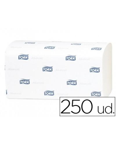 Toalla de papel engarzada 2 capas 218x23 cm paquete de 250 unidades para dispensador h3