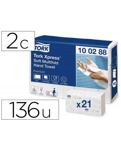 Toalla de papel engarzada 2 capas 21x33 cm paquete de 136 unidades para dispensador h2