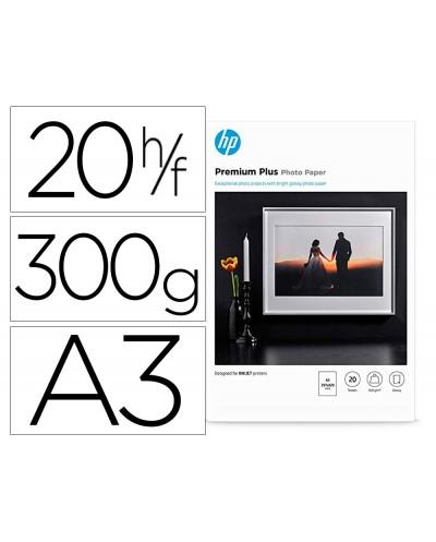 Papel hp ink jet foto glossy premium a3 300 gr 20 hojas