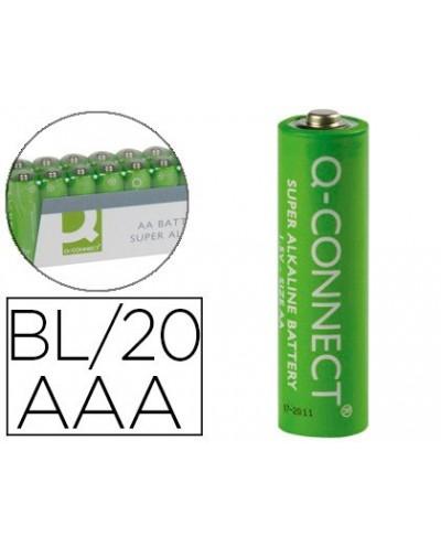 Pila q connect alcalina aaa paquete con 20 pilas