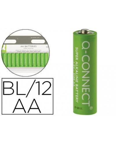 Pila q connect alcalina aa blister con 12 pilas
