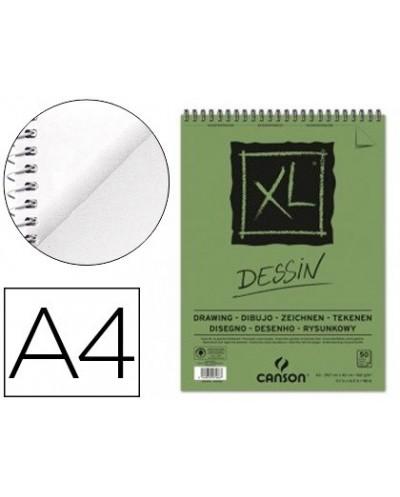 Bloc dibujo canson xl dessin din a4 liso microperforado espiral 21x297 cm 50 hojas 160 gr