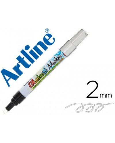 Rotulador artline glass marker especial cristal borrable en seco o humedo color blanco