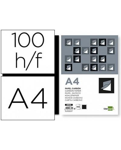 Papel carbon liderpapel film negro din a4 caja de 100 hojas