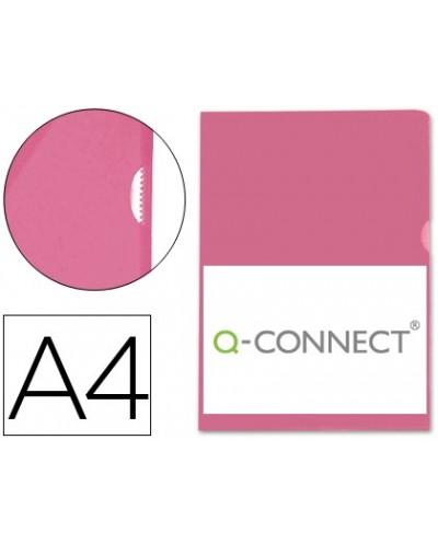 Carpeta dossier unero plastico q connect din a4 120 micras roja caja de 100 unidades