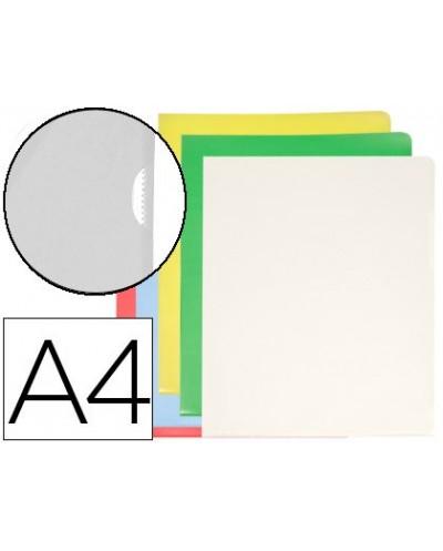 Carpeta dossier unero plastico q connect din a4 120 micras colores surtidos caja de 100 unidades