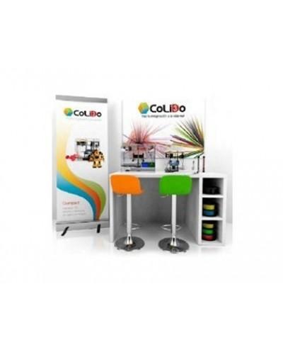 Mesa de trabajo 3d colido rincon incluye impresoras 3d 20 plus compact accesorios y 2 taburetes 160x80x90 cm