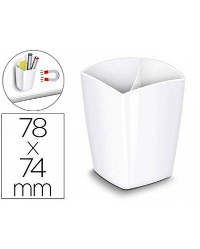 Cubilete portalapices cep magnetico blanco 78x74x95 mm