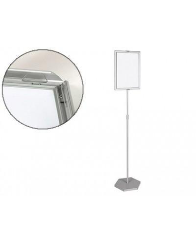 Expositor de pie bi office para formatos a3 ajustable en altura 102 cm