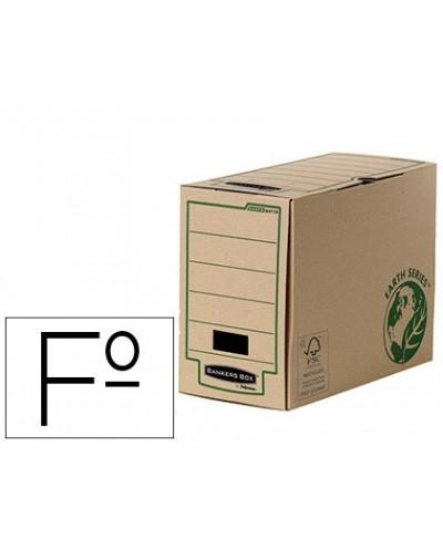 Caja archivo definitivo fellowes folio carton reciclado lomo 150 mm