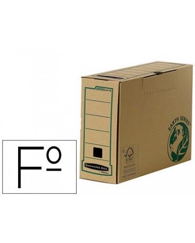 Caja archivo definitivo fellowes folio carton reciclado lomo 100 mm