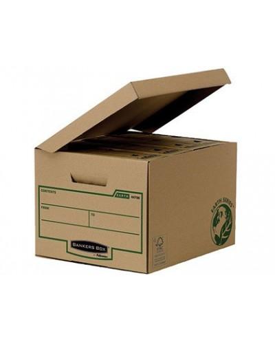 Cajon fellowes carton reciclado para almacenamiento de archivadores capacidad 4 cajas de archivo 80 mm