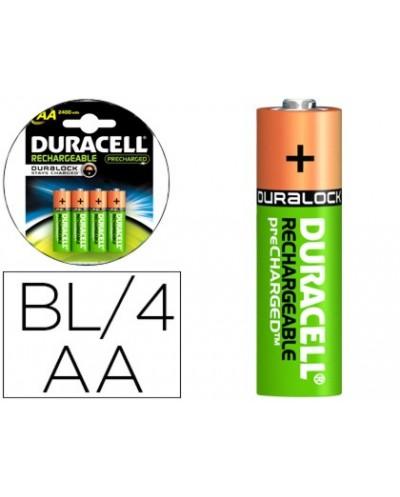 Pila duracell recargable staycharged aa 2400 mah blister de 4 unidades