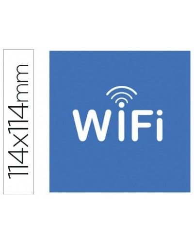Etiqueta adhesiva apli de senalizacion simbolo wifi 114x114 mm