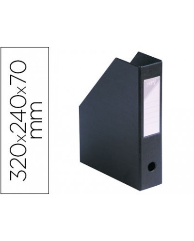 Revistero elba pvc ultra resistente color negro 32x24x7 cm