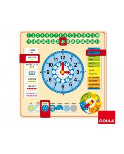 Reloj calendario diset castellano