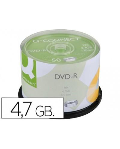 Dvd r q connect capacidad 47gb duracion 120min velocidad 16x bote de 50 unidades