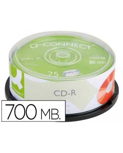 Cd r q connect capacidad 700mb duracion 80min velocidad 52x bote de 25 unidades