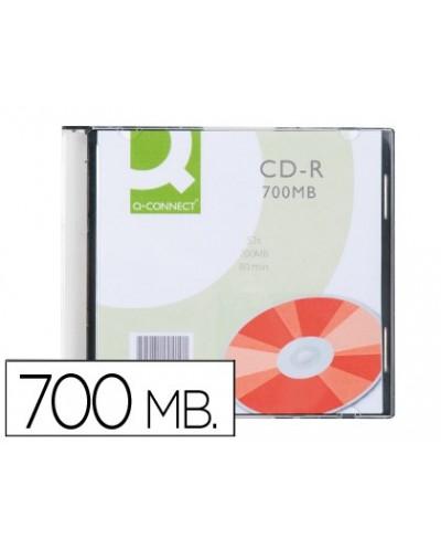 Cd r q connect capacidad 700mb duracion 80min velocidad 52x caja slim