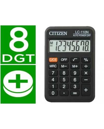 Calculadora citizen bolsillo lc 110 8 digitos negra