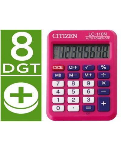 Calculadora citizen bolsillo lc 110 8 digitos rosa