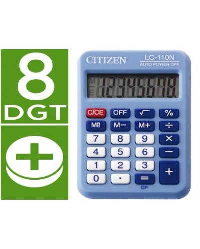 Calculadora citizen bolsillo lc 110 8 digitos celeste