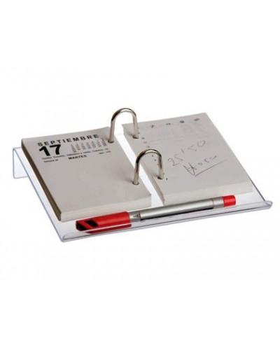 Portacalendario transparente q connect para bloc bufete 195x150x35 mm