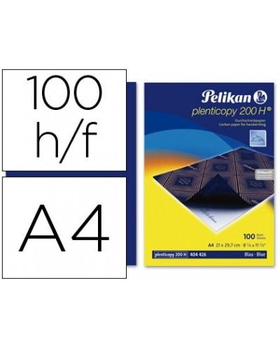 Papel carbon pelikan azul din a4 caja de 100 unidades