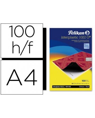 Papel carbon pelikan negro interplastic din a4 caja de 100 unidades