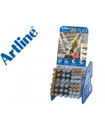 Rotulador artline marcador permanente tinta metalica gama oro y plata ek 900 999 expositor de 48 unidades