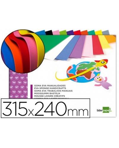 Bloc trabajos manuales liderpapel goma eva 240x315mm 10 hojas colores surtidos