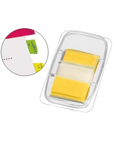 Banderitas separadoras q connect amarillas dispensador de 50