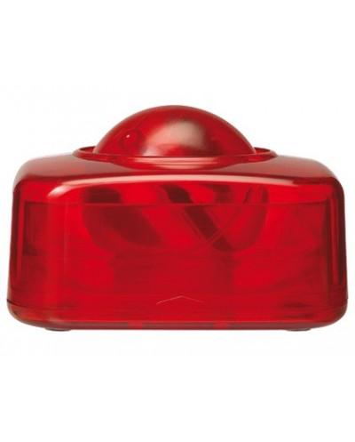 Portaclips q connect con bola dispensadora giratoria plastico rojo