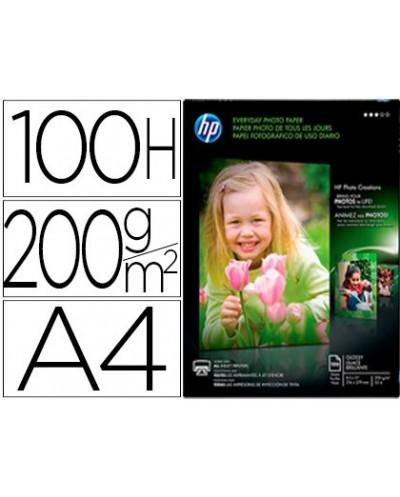 Papel hp photo semi glossy 200g m2 din a4 100h