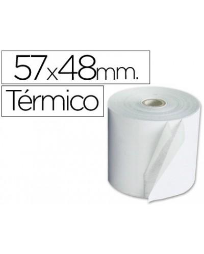 Rollo sumadora termico 57 mm ancho x 48 mm diametro sin bisfenol a