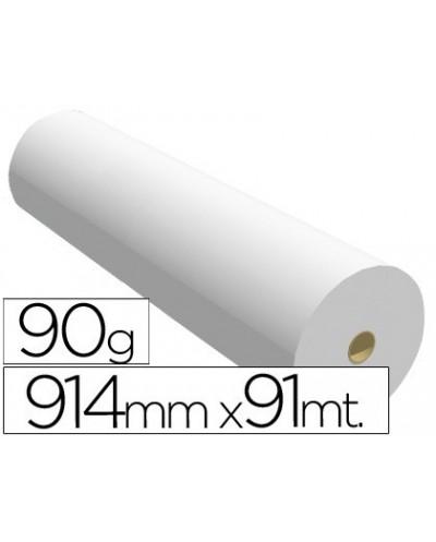 Papel reprografia para plotter 914mmx91mt 90gr impresion ink jet