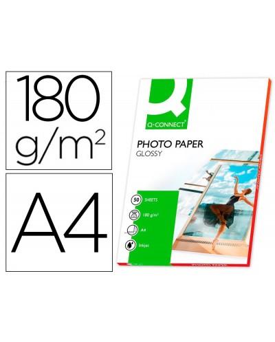 Papel q connect foto glossy din a4 alta calidad digital photo para ink jet bolsa de 50 hojas de 180 gr