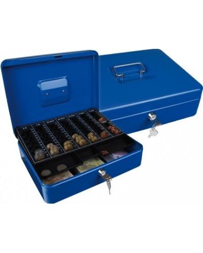 Caja caudales q connect 12 300x240x90 mm azul con portamonedas