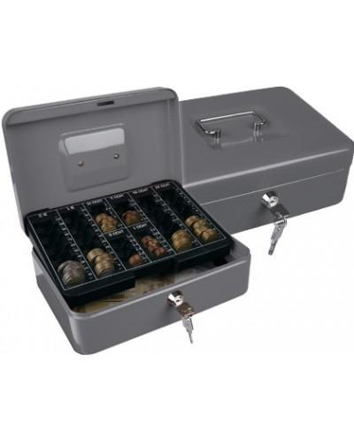 Caja caudales q connect 10 250x180x90 mm plata con portamonedas