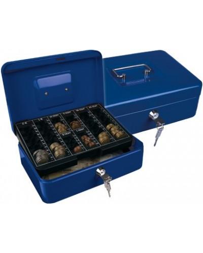 Caja caudales q connect 10 250x180x90 mm azul con portamonedas
