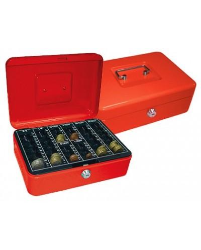 Caja caudales q connect 10 250x180x90 mm roja con portamonedas