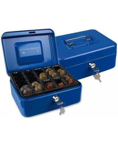 Caja caudales q connect 8 200x160x90 mm azul con portamonedas