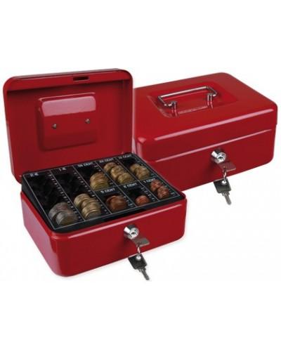 Caja caudales q connect 8 200x160x90 mm roja con portamonedas