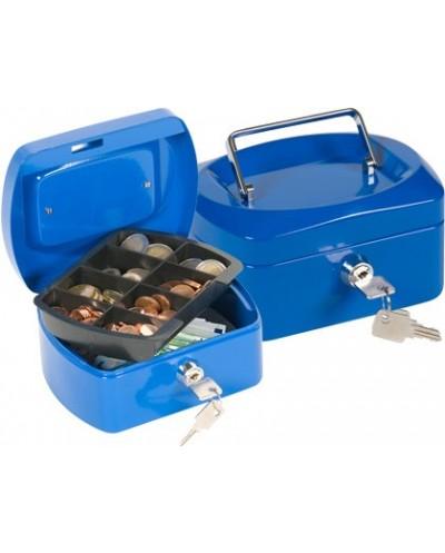 Caja caudales q connect 6 152x115x80 mm azul con portamonedas