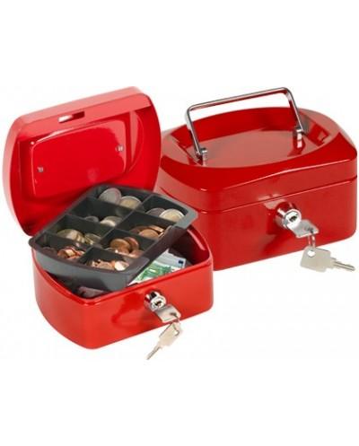 Caja caudales q connect 6 152x115x80 mm roja con portamonedas