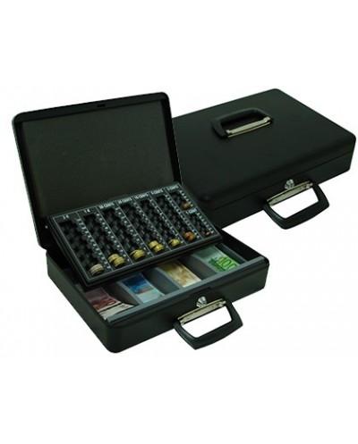 Caja caudales q connect 145 370x290x110 mm con portamonedas y bandeja para billetes