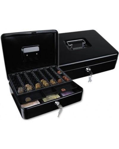Caja caudales q connect 12 300x240x90 mm negra con portamonedas