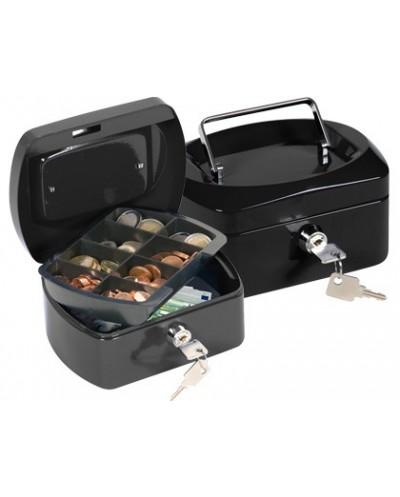 Caja caudales q connect 6 152x115x80 mm negra con portamonedas