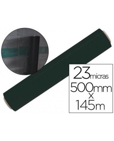 Film extensible manual bobina ancho 500 mm largo 145 mt espesor 23 micras negro