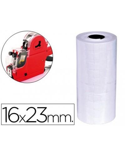 Etiquetas q connect blanca 16 x 23 mm lisa rollo 700 etiquetas para etiquetadora q connect
